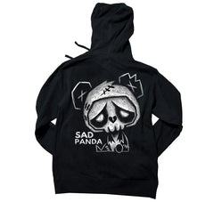 Akumu Ink Sad Panda Unisex FLEECE Hoodie, long sleeve, Akumu ink, goth, emo