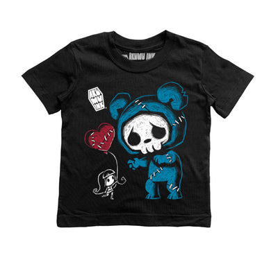 A Balloon a Day Kids Tee, tshirt, Akumu ink, goth, emo