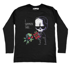 I Summon Thee Men Long Sleeve Tshirt, Men Shirts, Akumu ink, goth, emo