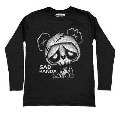 Sad Panda Men Long Sleeve Tshirt, Men Shirts, Akumu ink, goth, emo