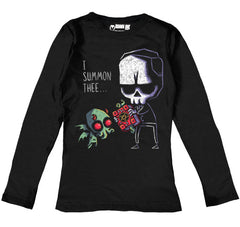 I Summon Thee Women Long Sleeve Tshirt, Women Shirts, Akumu ink, goth, emo