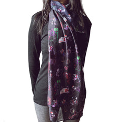 "71""x20"" The Escape from Wonderland Sheer Silky Scarf, Accessories, Akumu ink, goth, emo"