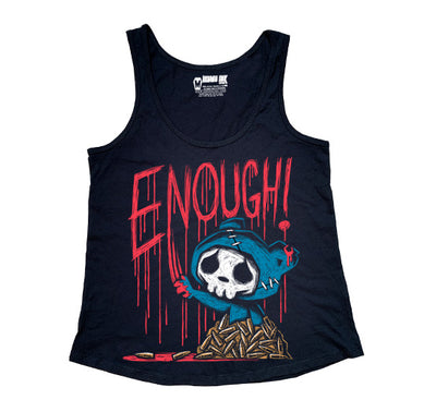 Akumu Ink ENOUGH! Women Tanktop, Women Shirts, Akumu ink, goth, emo