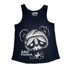 Sad Panda Women Tanktop, Women Shirts, Akumu ink, goth, emo