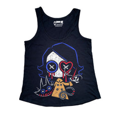 Ready to Play Women Tanktop, Women Shirts, Akumu ink, goth, emo