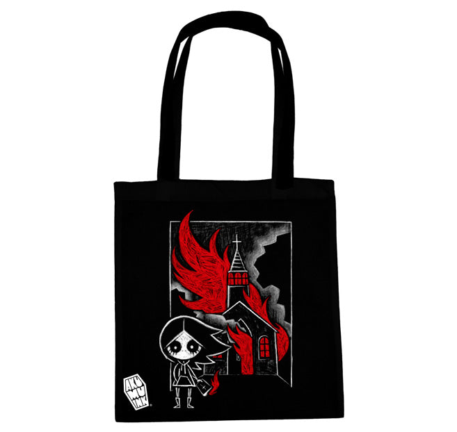 Akumu Ink The Prophecy Tote Bag, bag, Akumu ink, goth, emo