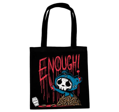 Akumu Ink ENOUGH! Tote Bag, bag, Akumu ink, goth, emo