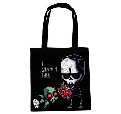 Akumu Ink I Summon Thee Tote Bag, bag, Akumu ink, goth, emo
