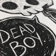 Dead Boy Women White Tshirt, Women Shirts, Akumu ink, goth, emo