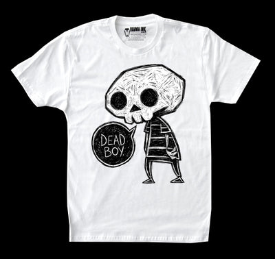 Dead Boy Men White Tshirt, Men Shirts, Akumu ink, goth, emo