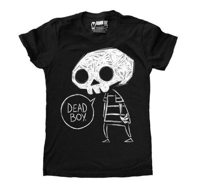 Akumu Ink Dead Boy Women Tshirt, Women Shirts, Akumu ink, goth, emo