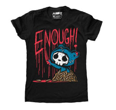 Akumu Ink ENOUGH! Women Tshirt, Women Shirts, Akumu ink, goth, emo