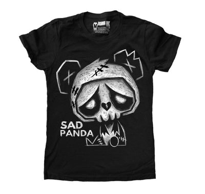 Akumu Ink Sad Panda Women Tshirt, Women Shirts, Akumu ink, goth, emo