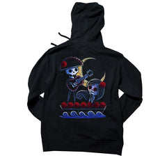 Akumu Ink® Drifting into the Moonlight Unisex FLEECE Hoodie, long sleeve, Akumu ink, goth, emo