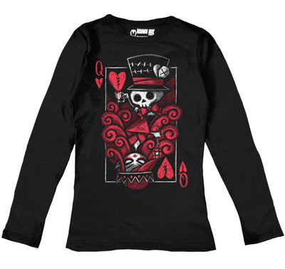 The Upside Down: Queen Women Long Sleeve Tshirt, Women Shirts, Akumu ink, goth, emo