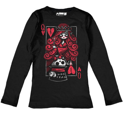 The Upside Down: Hatter Women Long Sleeve Tshirt, Women Shirts, Akumu ink, goth, emo