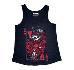 The Upside Down: Queen Women Tanktop, Women Shirts, Akumu ink, goth, emo