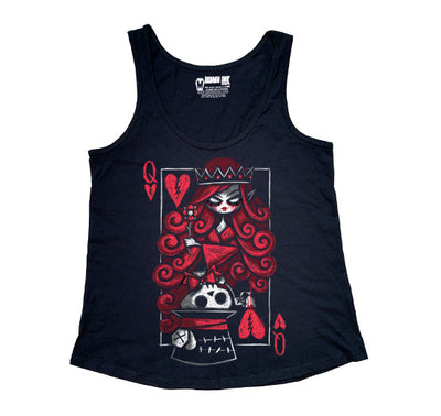 The Upside Down: Hatter Women Tanktop, Women Shirts, Akumu ink, goth, emo