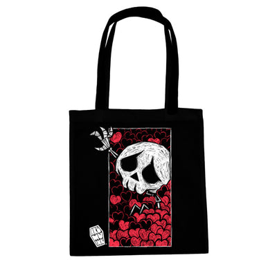 Akumu Ink Smothered Tote Bag, bag, Akumu ink, goth, emo