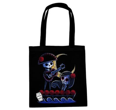 Akumu Ink® Drifting into the Moonlight Tote Bag, bag, Akumu ink, goth, emo