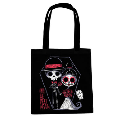Akumu Ink® Until We Meet Again... Tote Bag, bag, Akumu ink, goth, emo
