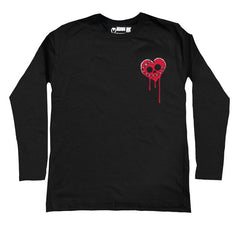 Bleeding Heart Logo Men Long Sleeve Tshirt