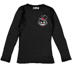 Akumu Ink® Psychotic Delight Logo Women Long Sleeve Tshirt