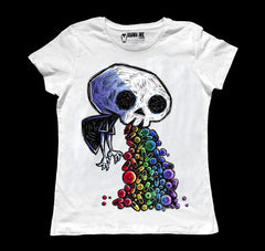 Poison Candy Women White Tshirt