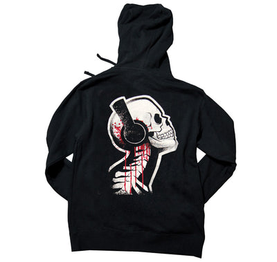 Akumu Ink Tone Death Unisex FLEECE Hoodie, long sleeve, Akumu ink, goth, emo
