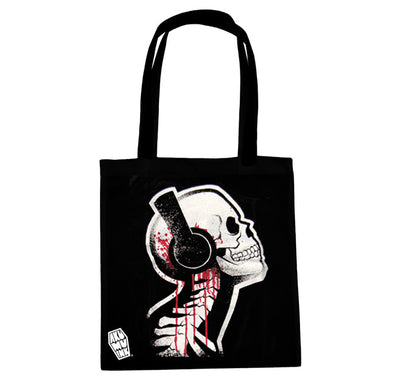 Akumu Ink Tone Death Tote Bag, bag, Akumu ink, goth, emo