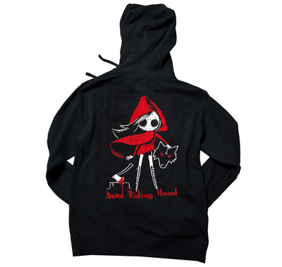 Akumu Ink Dead Riding Hood Unisex FLEECE Hoodie, long sleeve, Akumu ink, goth, emo