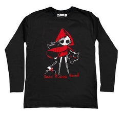 Dead Riding Hood Men Long Sleeve Tshirt, Men Shirts, Akumu ink, goth, emo