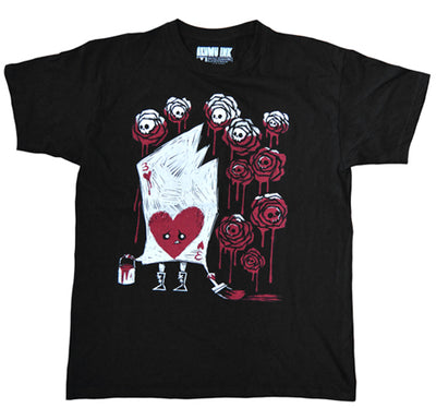 Akumu Ink Painting The Roses With Blood Men Tshirt, Men Shirts, Akumu ink, goth, emo