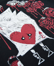 Painting The Roses With Blood Men Long Sleeve Tshirt, Men Shirts, Akumu ink, goth, emo