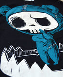 beartrap tshirt, blue bear shirt, bear skull shirt