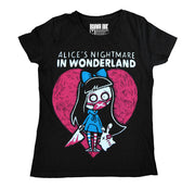 Akumu Ink Alice's Nightmare Women Tshirt, Women Shirts, Akumu ink, goth, emo