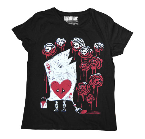 Akumu Ink Painting The Roses With Blood Women Tshirt, Women Shirts, Akumu ink, goth, emo