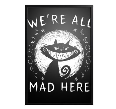 Akumu Ink We're All Mad Here Artwork, art, Akumu ink, goth, emo