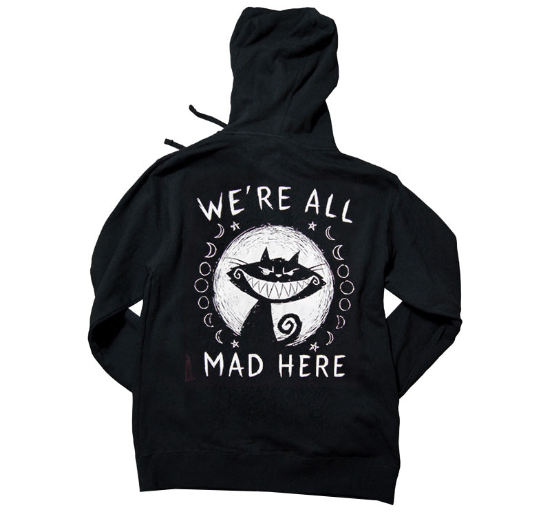 Akumu Ink We're All Mad Here Unisex FLEECE Hoodie