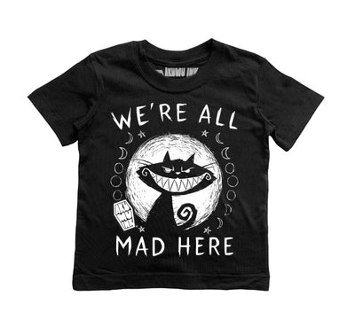 We're All Mad Here Kids Tee, tshirt, Akumu ink, goth, emo