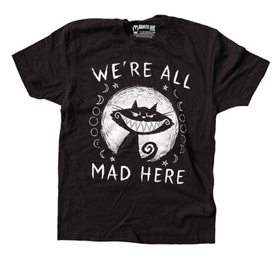 Akumu Ink We're All Mad Here Men Tshirt, Men Shirts, Akumu ink, goth, emo