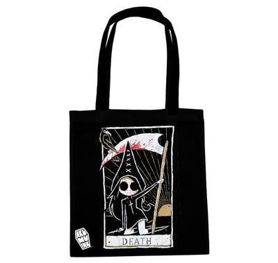 Akumu Ink Death Card Tote Bag, bag, Akumu ink, goth, emo