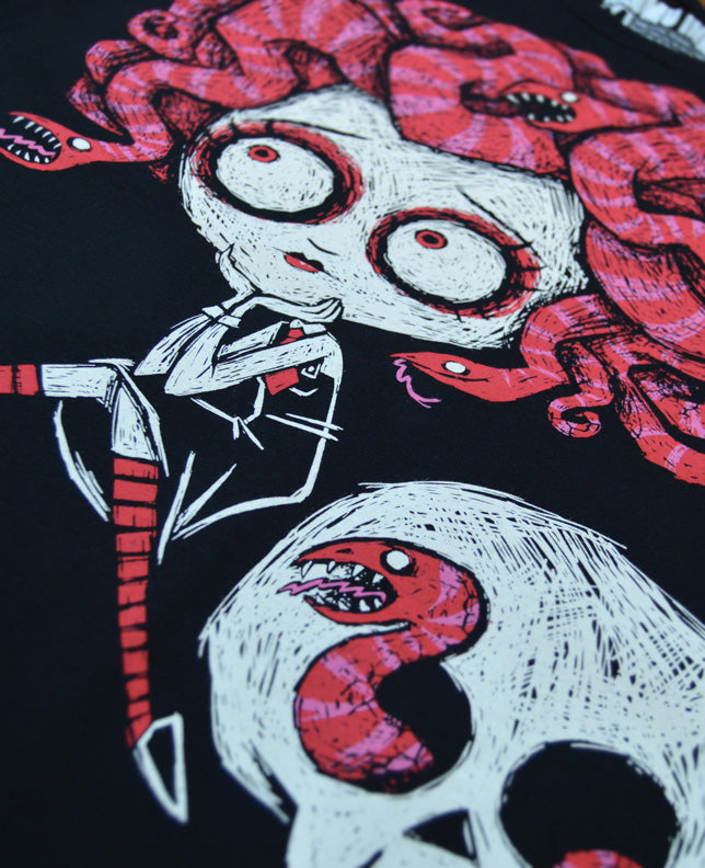 Medusa In Love T-Shirt, Men Shirts, Akumu ink, goth, emo