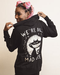 Akumu Ink We're All Mad Here Unisex Lightweight Hoodie, long sleeve, Akumu ink, goth, emo