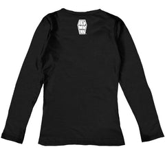 Stitch Me A Smile Women Long Sleeve Tshirt, Women Shirts, Akumu ink, goth, emo