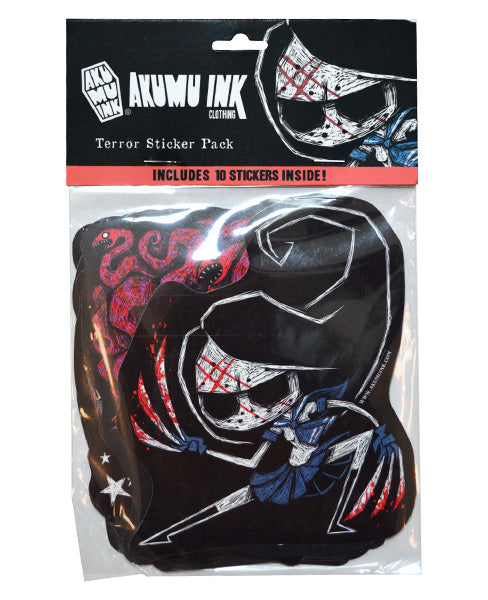 Akumu Ink Terror Sticker Pack, Accessories, Akumu ink, goth, emo