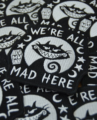 Akumu Ink We're All Mad Here Patch, Accessories, Akumu ink, goth, emo
