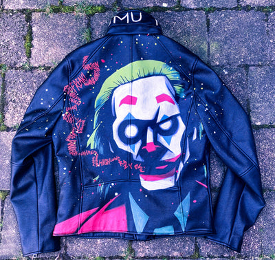CUSTOM HANDPAINTED JACKET, , Akumu ink, goth, emo