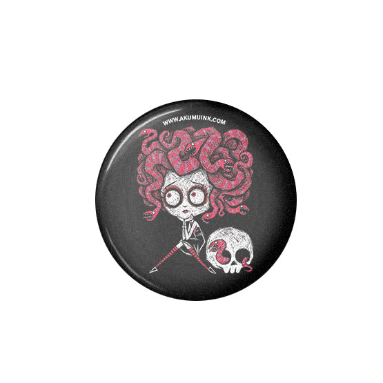 Akumu Ink Medusa in Love Pin, Accessories, Akumu ink, goth, emo