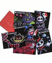 Alice's Nightmare Postcard Pack, Accessories, Akumu ink, goth, emo